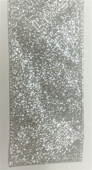 #40 Wired Ribbon Silver Glitter MAIN
