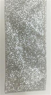 #40 Wired Ribbon Silver Glitter THUMBNAIL