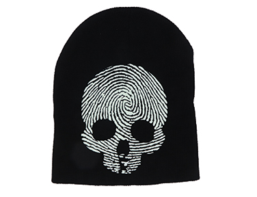Glow in the Dark Knitted Skull Cap SWATCH