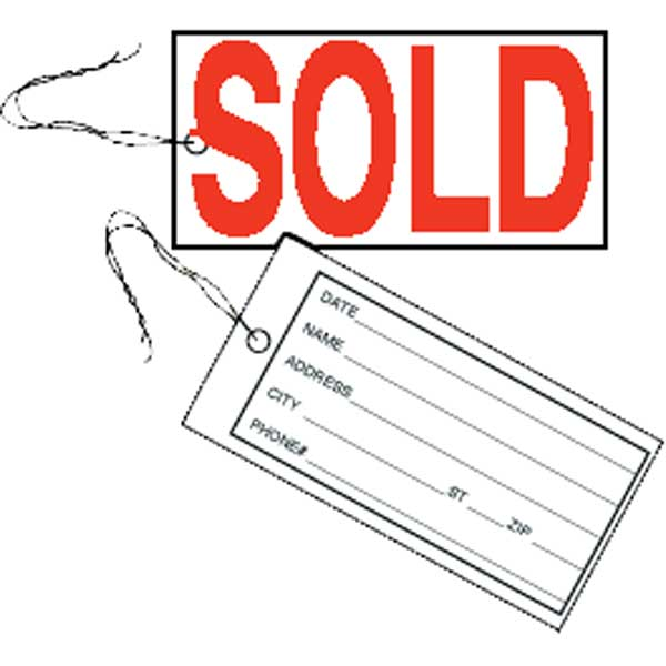 TTC705 Sold Tag MAIN