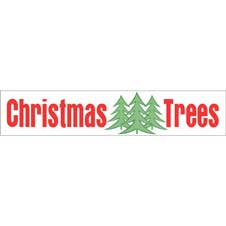 Christmas Trees Banner 3x15 THUMBNAIL