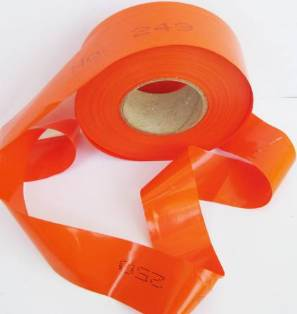 Numbered Flagging Tape -ORANGE MAIN