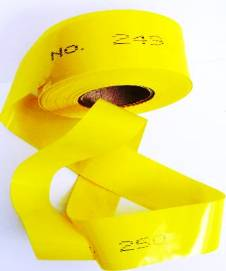 Numbered Flagging Tape - YELLOW THUMBNAIL