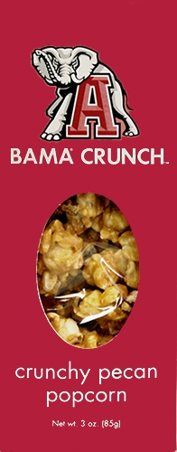 3 oz Box Bama Crunch Pecan Popcorn THUMBNAIL