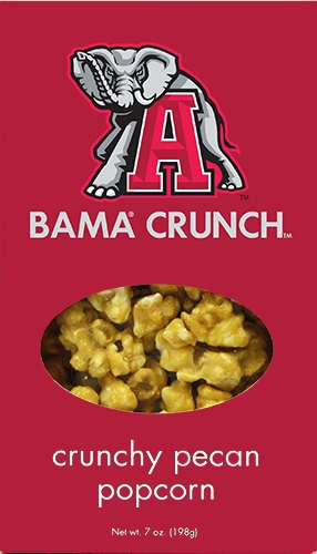 7 oz Box Bama Crunch Pecan Popcorn