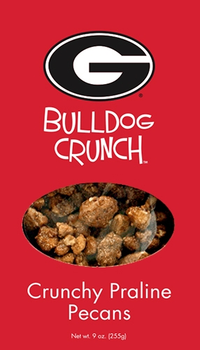 9 oz Box Bulldog Crunch Praline Pecan