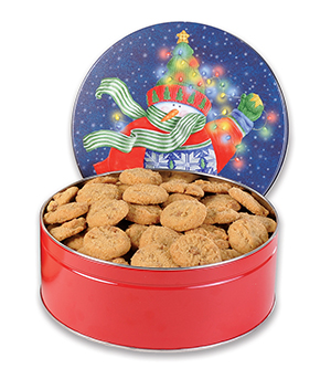 1# 7 oz Tin Pecan Praline Cookies LARGE