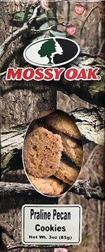 3 oz. box Praline Pecan Cookies - Mossy Oak LARGE