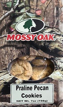 9 oz. Mossy Oak Box Praline Pecan Cookies LARGE