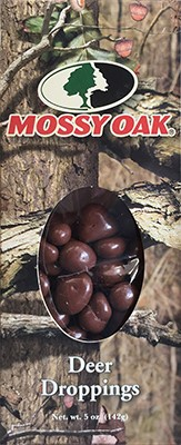 5 oz box of Mossy Oak Deer Droppings (Chocolate Peanuts) LARGE