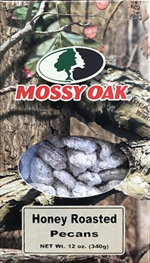12 oz Mossy Oak Box Honey Roasted Pecans LARGE