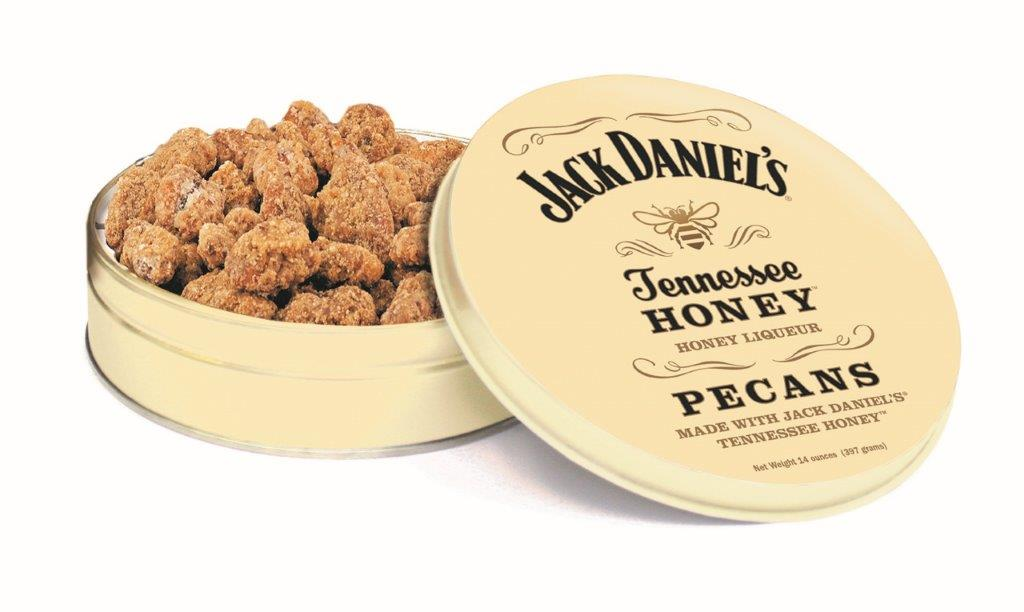 14 oz Tin Jack Daniel's Tennessee Honey Pecans LARGE