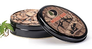 10 oz. Mossy Oak Tin Caribbean Rum Pecans LARGE