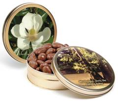 1# Tin Dark Chocolate Pecans