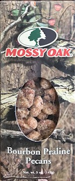 5 oz. box Bourbon Praline Pecans - Mossy Oak LARGE