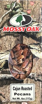 4 oz. box Cajun Roasted Pecans - Mossy Oak LARGE