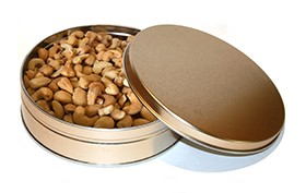 12 oz. Roasted & Salted Cashew Tin LARGE