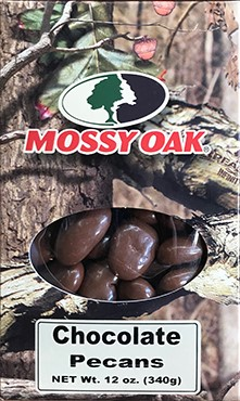 12 oz Mossy Oak Box Chocolate Pecans LARGE