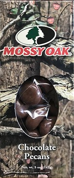 5 oz. box Chocolate Pecans - Mossy Oak