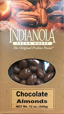 12 oz Box Chocolate Almonds LARGE