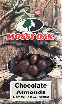 12 oz Mossy Oak Box Chocolate Almonds LARGE