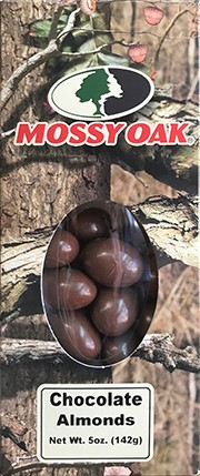 5 oz. box Chocolate Almonds - Mossy Oak_LARGE
