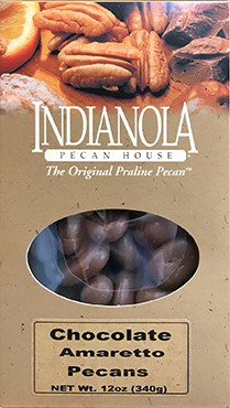 12 oz Box Chocolate Amaretto Pecans LARGE