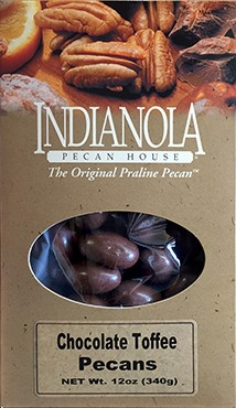 12 oz Box Chocolate Toffee Pecans LARGE