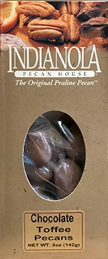 5 oz. Box Chocolate Toffee Pecans LARGE