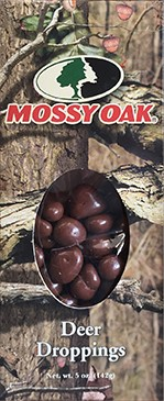 5 oz box of Mossy Oak Deer Droppings (Chocolate Peanuts)