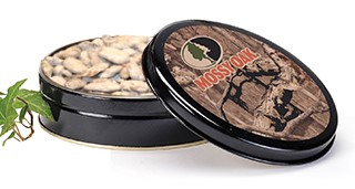 10 oz Mossy Oak Tin Honey Roasted Pecans THUMBNAIL