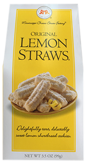 3.5 oz box Lemon Straws LARGE
