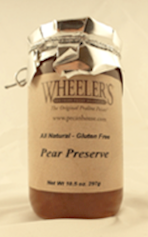 Wheeler's Pear Preserve 10.5 OZ LARGE