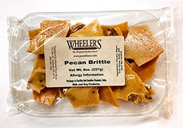 8 oz tray Pecan Brittle