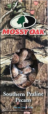 5 oz. box Praline Pecans - Mossy Oak LARGE