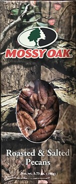 3.75 oz. box Roasted & Salted Pecans - Mossy Oak LARGE