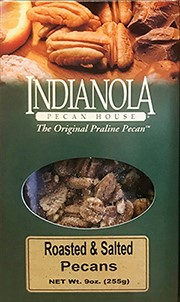 9 oz Box Roasted & Salted Pecans LARGE