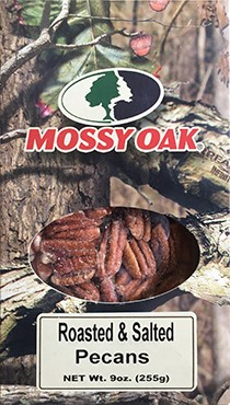 9 oz Mossy Oak Box Roasted & Salted Pecans