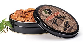 8 oz. Mossy Oak Tin Roasted & Salted Pecans LARGE