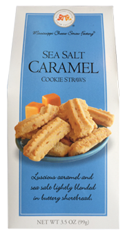 3.5 oz box Sea Salt Caramel Cookie Straws LARGE