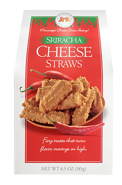 6.5 oz box Sriracha Cheese Straws