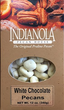 12 oz Box White Chocolate Pecans LARGE