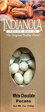 5 oz. Box White Chocolate Pecans LARGE