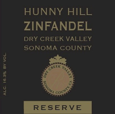 FUTURE - 2018 Hunny Hill Estate Reserve Zinfandel MAIN