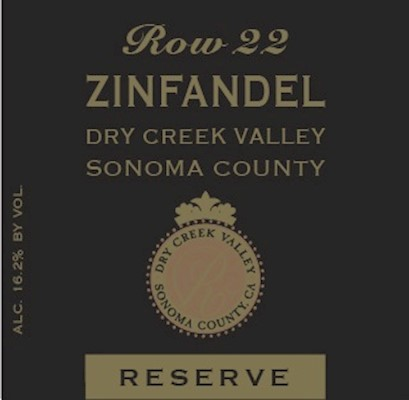 FUTURE - 2018 Row 22 Estate Reserve Zinfandel MAIN