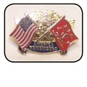 KIA With USA Flag Pin THUMBNAIL