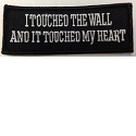 I touched the wall and it touched my heart patch_THUMBNAIL