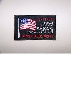 9-11-01 Never Forget w/USA Flag Patch MAIN