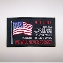 9-11-01 Never Forget w/USA Flag Patch_THUMBNAIL