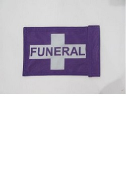 "6"" x 9"" Motorcycle Funeral Flag MAIN"